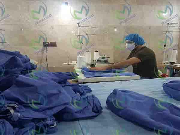 خط تولید لباس یکبار مصرف اتاق عمل