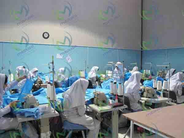 دستگاه مورد نیاز برای تولید لباس بیمارستان